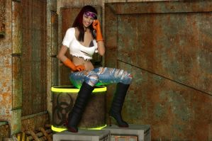 Oblivious sexy factory worker by blinded-dinosaur
