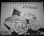 Inktober Day 13: (Scared) by FeralDoodle