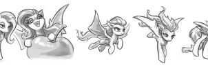 Flutterbat Sketches #2 by KP-ShadowSquirrel