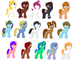Adopt Some Ponies! :OPEN: by Shimmering-Adopts