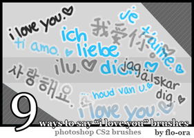 I Love You Brushes by flo-ora