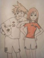 Sora and Kairi - Soccer ver2.0 by kngdmhrts2
