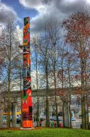 Totem in Seattle Center by Mackingster