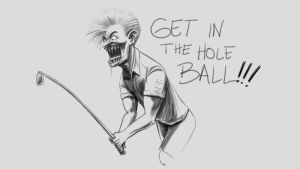 Frustrated Golfer by LineDetail