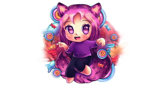 Candy Cat by xMadameLouise