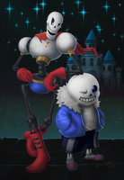 Sans and Pap by LucasSchneider