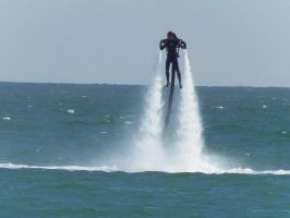 Water jet Man - Eastbourne Airbourne 2013 by Fragsey
