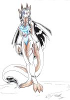 full look at maiya dragoness by fighterdragon