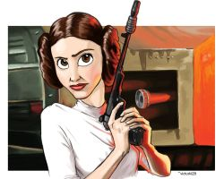 (Disney)Princess Leia by victorkl28