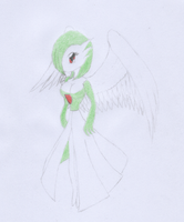 Winged Gardevoir Colored by ravenfanboy64