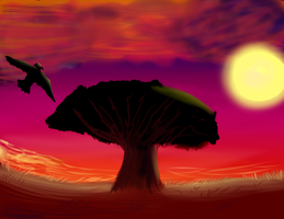 African Sunset by KittyCatRainbow