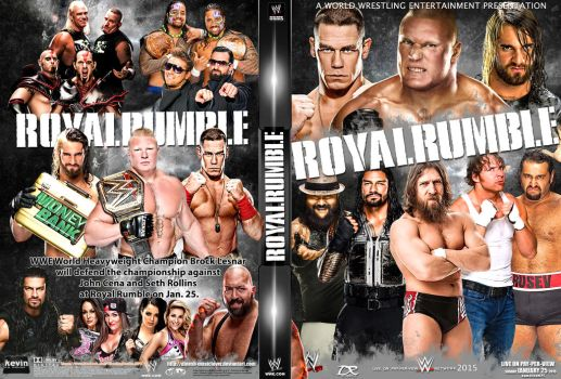 WWE Royal Rumble 2015 DVD Cover by Dinesh-Musiclover