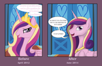 Ask Princess Cadance - Draw this Again by iRaincloud