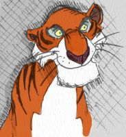 Disney quick sketch: Shere Khan by WulfFather