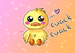 Kawaii Duck :3 by Delitha92