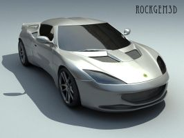 Textured Lotus Evora 1 by rockgem3d