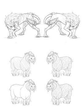Wolf and Sheep variations 01 by Plyxis