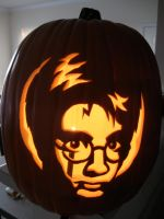 Harry Potter Pumpkin by tinevecc