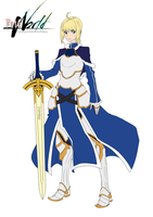 Fate/WORLD designs and redesigns - SABER by theSN3S