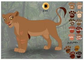 Unnamed Female Character Sheet Commission by Elbel1000