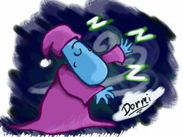 Dormi the Oversleeping Teesie by LuckyGreen7