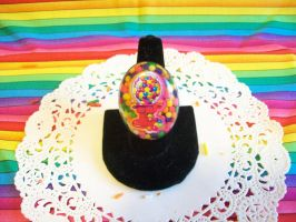 Gum Ball Machine Resin Ring by lessthan3chrissy