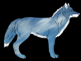 Cloudy Wolf Adoptable by jackcat2007
