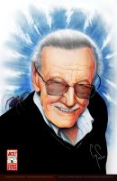 Stan Lee Print Colored 2012 by corysmithart