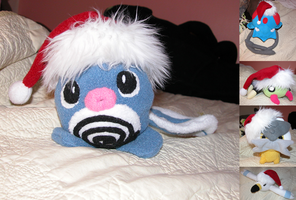 Christmas Hat Pokemon Plushies by Plush-Lore