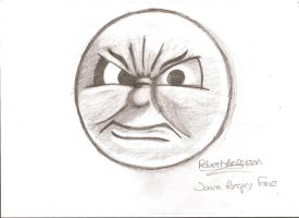 Angry James Face by Robie-Chan