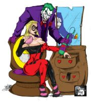 Harley and The Joker by Halfax