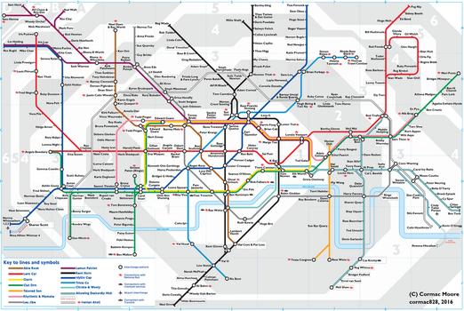 London Underground Anagram map by cormac828