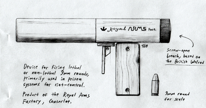 Royal Arms Factory 9mm firing device concept by Stingray-24