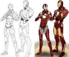 iron man and iron girl by cat-train