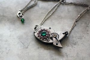Big Steampunk pendant by Devil's Jewel by Catarios