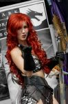 Red Sonja Blowing a kiss by Vanne