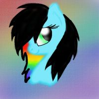 Rainbow Song Head Shot c: by Narwhals-are-beast