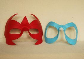 Hawk and Dove Masks by nondecaf