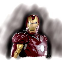 iron man fan art by GallienA