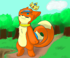 Desktop Background: The King of my Own World by Buizelfreak