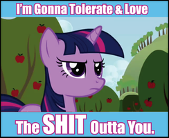 Love and Tolerate by DogPuppy1