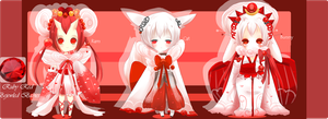 Bejeweled Babies: Ruby Adoptables CLOSED by iingo