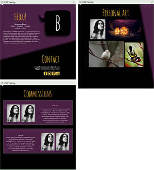 Black and purple profile design and coding by UszatyArbuz