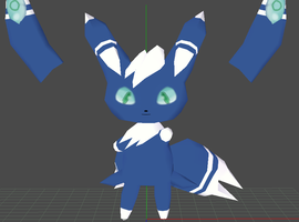 meowstic papercraft wip by javierini