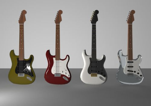 Fender Stratocaster Set by turnbuckle