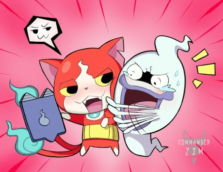 Whisper X Jibanyan- GIVE IT BACK!! by Zim-BringerOfDoom