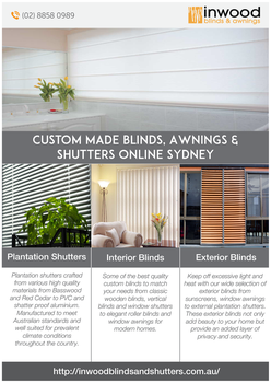 Custom Made Blinds, Awnings and Shutters by andersonmax483