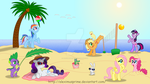Ponies at the Beach by AleximusPrime