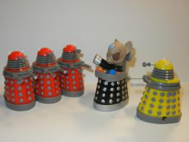 Davros with his Daleks by SilverBand7