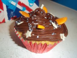 Chocolate Orange Birthday Cupcakes by Aikiruma